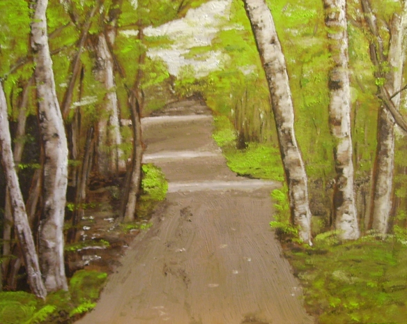 """A Walk in the Woods (2013) - 12x15"""", oil on board (sold)"""