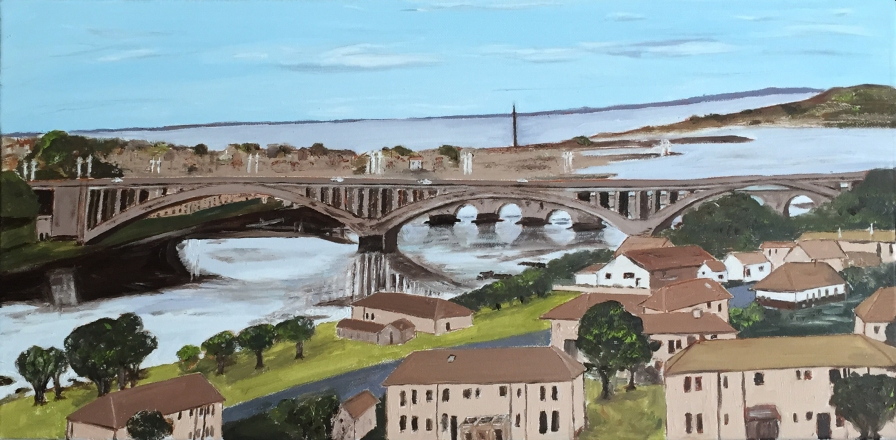 "Berwick-upon-Tweed (2014) - 12x24"", oil on canvas"