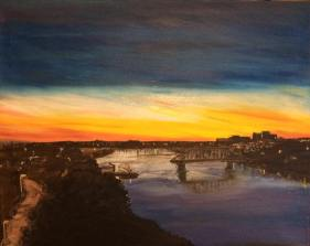 "Building a Bridge (2016) - 16x20"", oil on canvas"