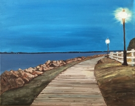 "Evening in Charlottetown (2015) - 16x20"", oil on canvas (sold)"