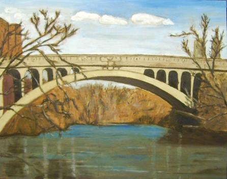 "Hunter Street Bridge (2012) - 16x20"", oil on board (sold)"