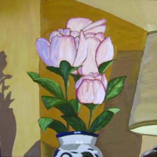 "In a Corner (2012) - 16x16"", oil on board"