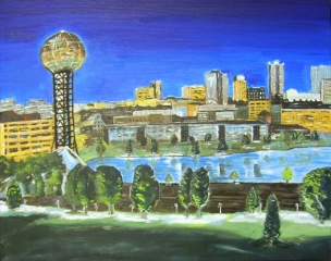 "Knoxville Evening (2013) - 16x20"", oil on board (commissioned)"