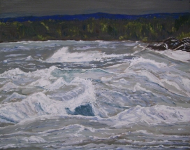 "Lake Superior (2012) - 16x20"", oil on board (sold)"