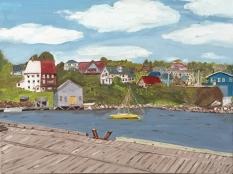 """Lunenburg Harbour (2015) - 12x 16"""", oil on canvas"""