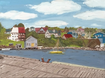 "Lunenburg Harbour (2015) - 12x 16"", oil on canvas"
