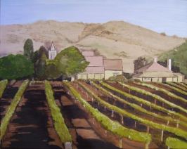 "Out in the Vineyard (2013) - 16x20"", oil on canvas (sold)"