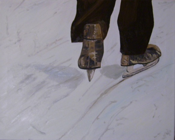 "Skater (2014) - 16x20"", oil on canvas"