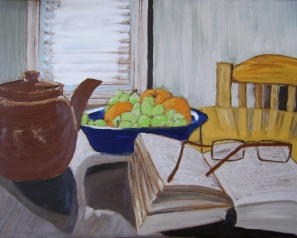 "Sunday Morning (2013) - 16x20"", oil on board"