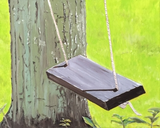 "Swing (2015) - 16x20"", oil on canvas"