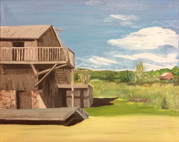 "The Farm at 4th Line (2016) - 16x20"", oil on canvas"