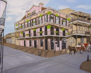"The French Quarter (2013) - 24x30"", oil on board"