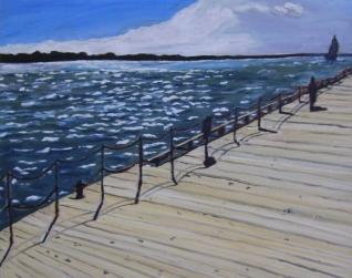 """Toronto Boardwalk (2012) - 16x20"""", oil on board (sold)"""
