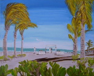 "Tropical Wedding II (2014) - 16x20"", oil on canvas (sold)"