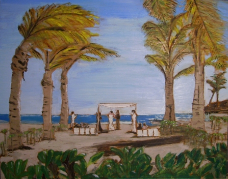 "Tropical Wedding (2012) - 16x20"", oil on board (sold)"