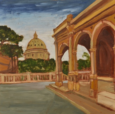 "When in Rome (2012) - 16x16"", oil on board (not for sale)"